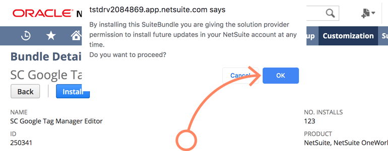 NetSuite LiveChat: Grant permissions to SC Google Tag Manager provider