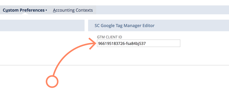 NetSuite LiveChat: Use Google Tag manager client ID