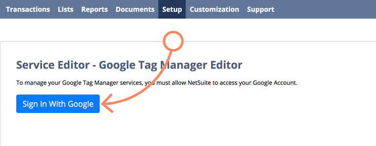 NetSuite LiveChat: Sign In with Google