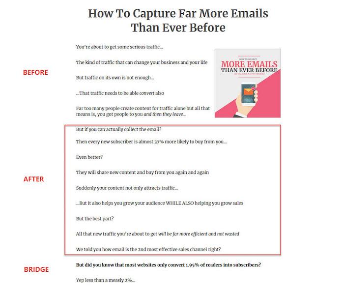 capturing more emails