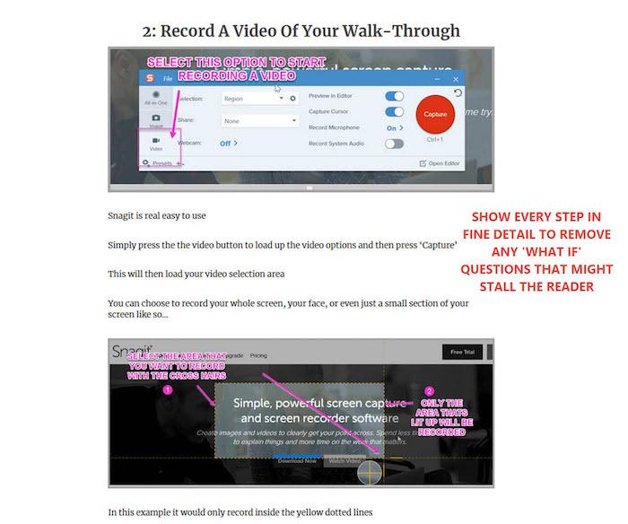 recording video walk-through