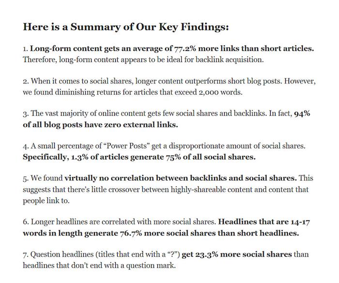 summary of case studies findings