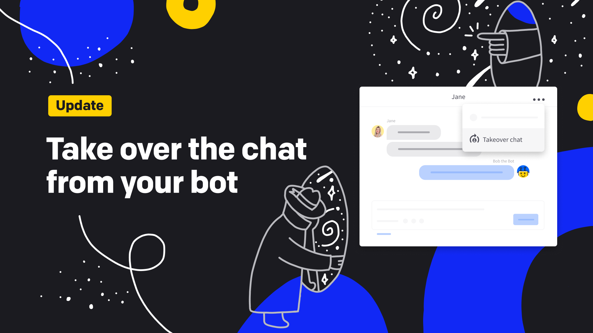 Take over the chat from your bot