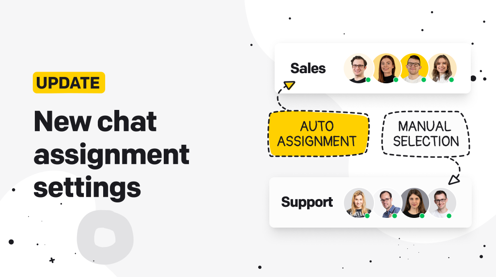 Update: Chat assignment settings.