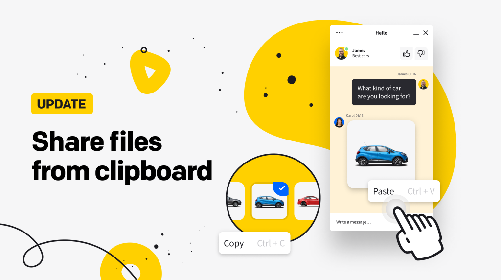 Share files from clipboard