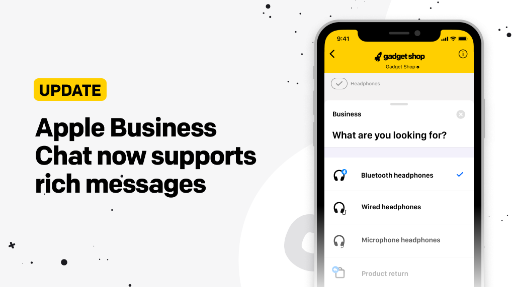 Apple Business Chat now supports rich messages