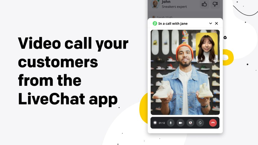 Video call your customers from the LiveChat app